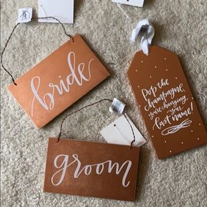 NEW Bride/groom/champagne wedding/party signs